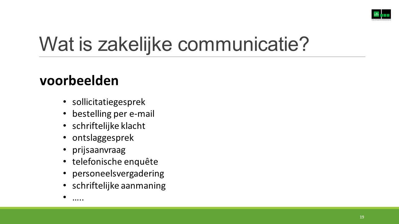 Wat is zakelijke communicatie