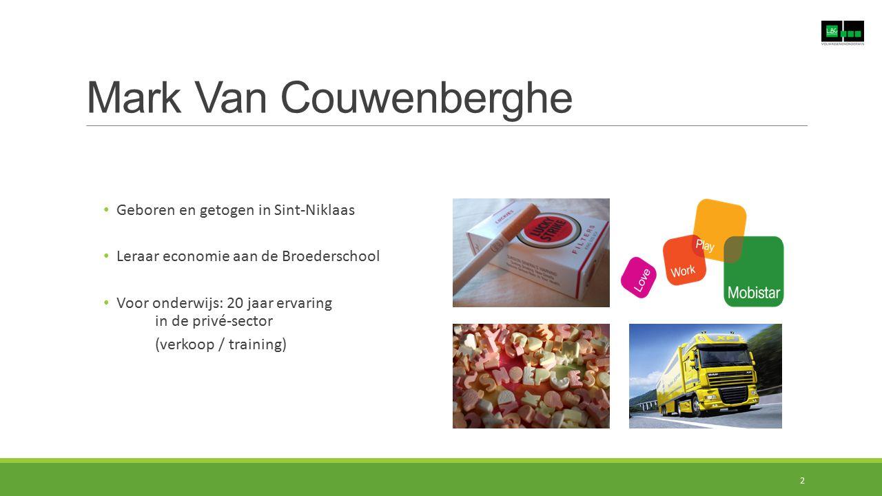 Mark Van Couwenberghe Geboren en getogen in Sint-Niklaas