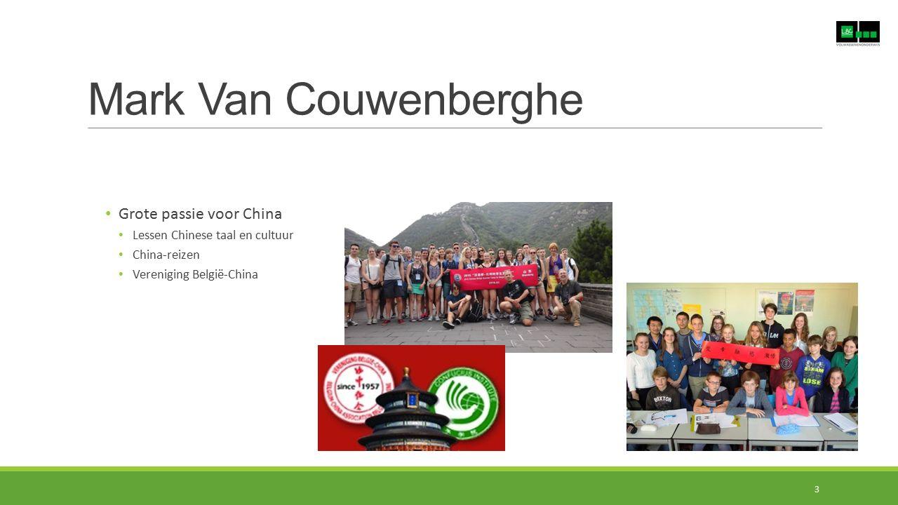 Mark Van Couwenberghe Grote passie voor China