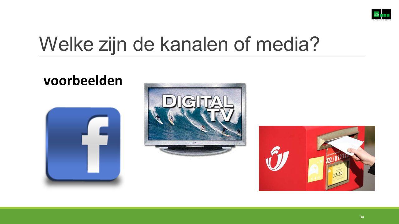 Welke zijn de kanalen of media