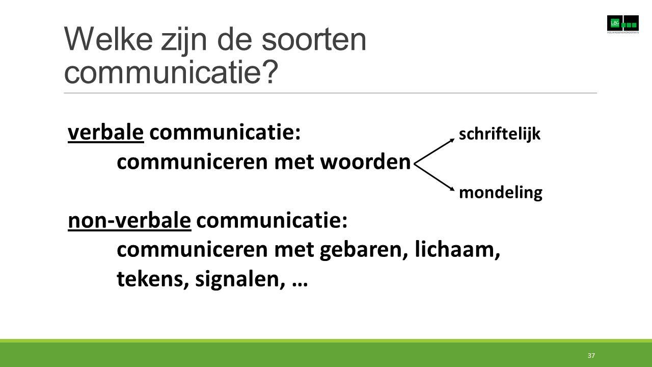 Welke zijn de soorten communicatie