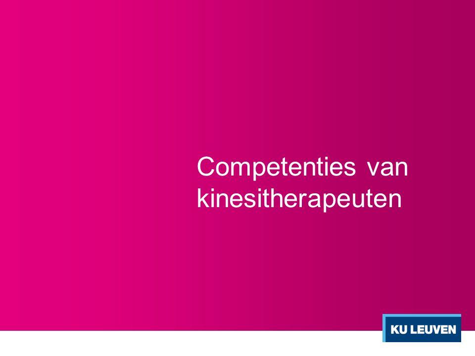 Competenties van kinesitherapeuten
