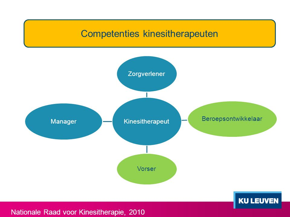 Competenties kinesitherapeuten