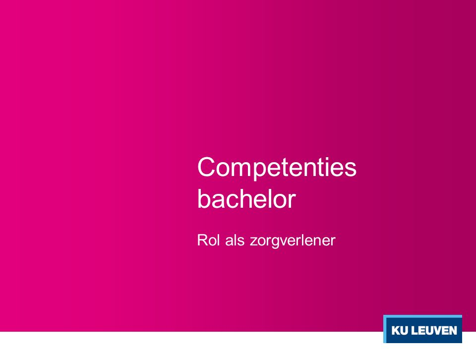 Competenties bachelor
