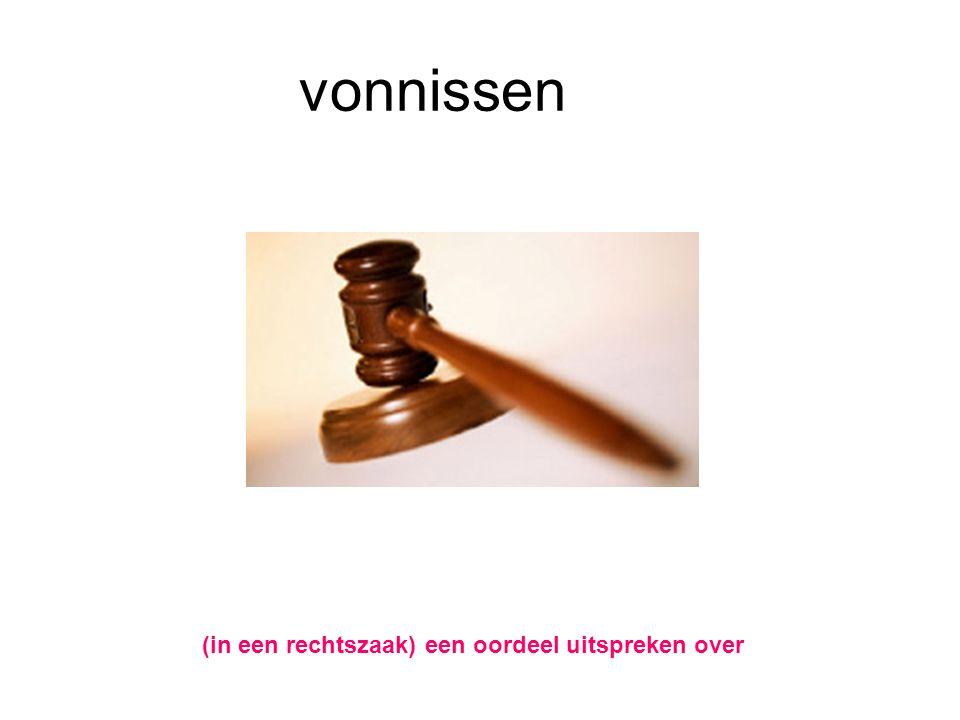 vonnissen (in een rechtszaak) een oordeel uitspreken over
