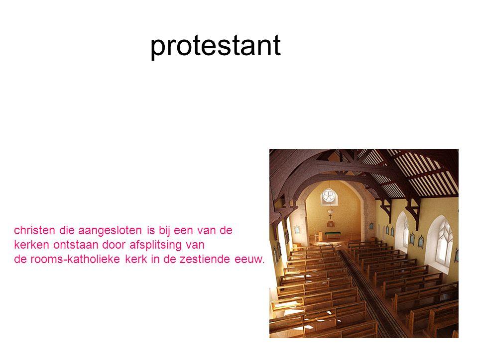 protestant christen die aangesloten is bij een van de