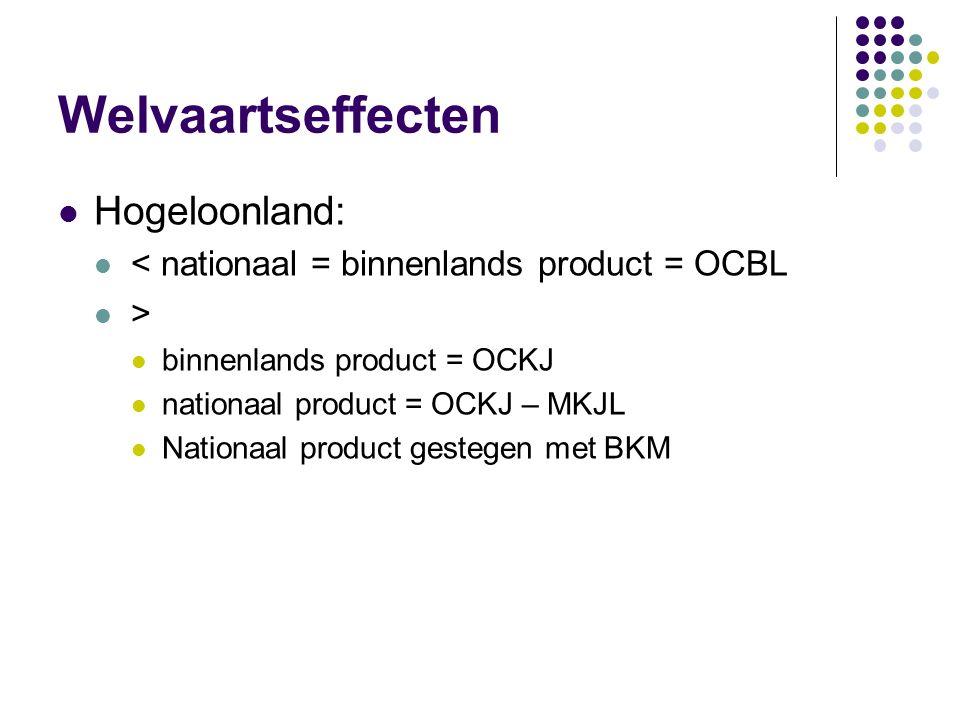 Welvaartseffecten Hogeloonland: