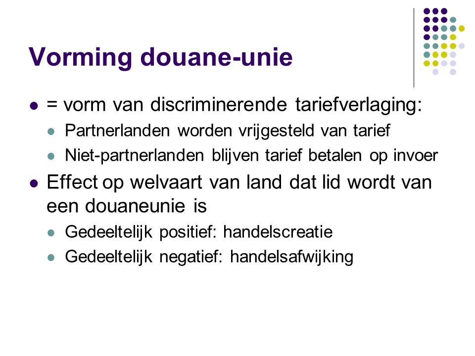 Vorming douane-unie = vorm van discriminerende tariefverlaging: