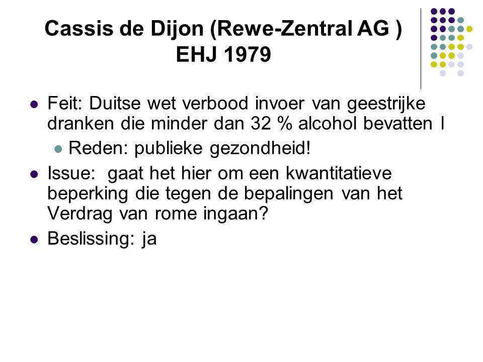 Cassis de Dijon (Rewe-Zentral AG ) EHJ 1979