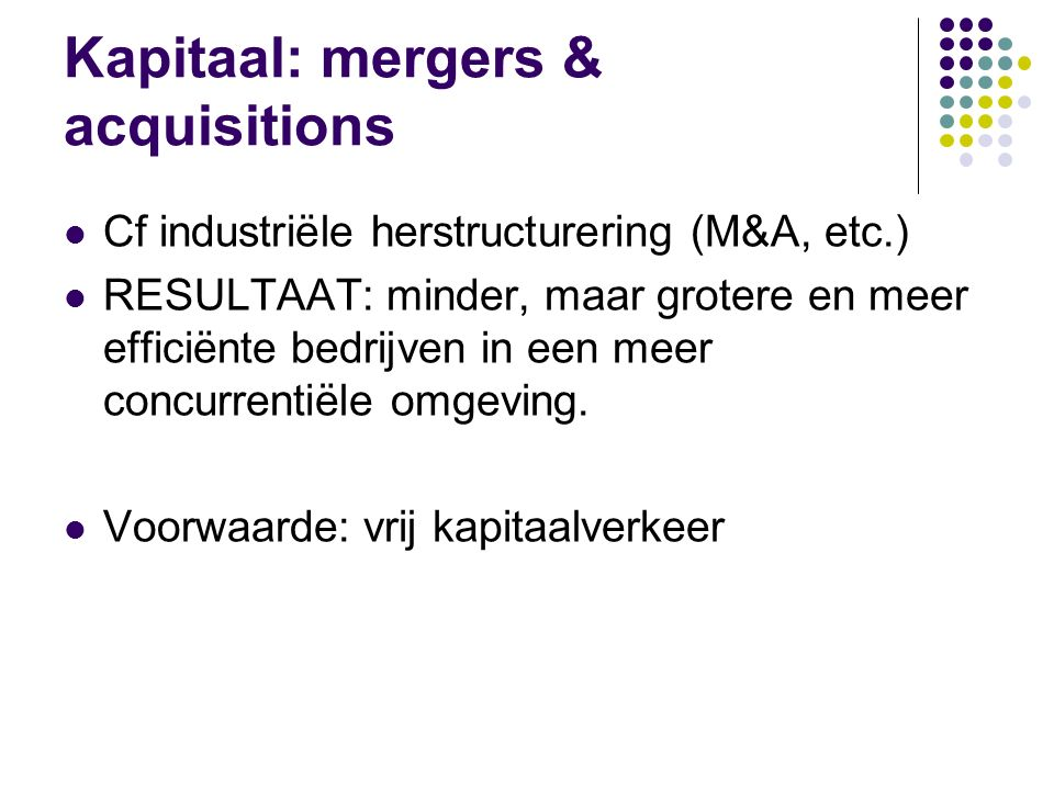 Kapitaal: mergers & acquisitions