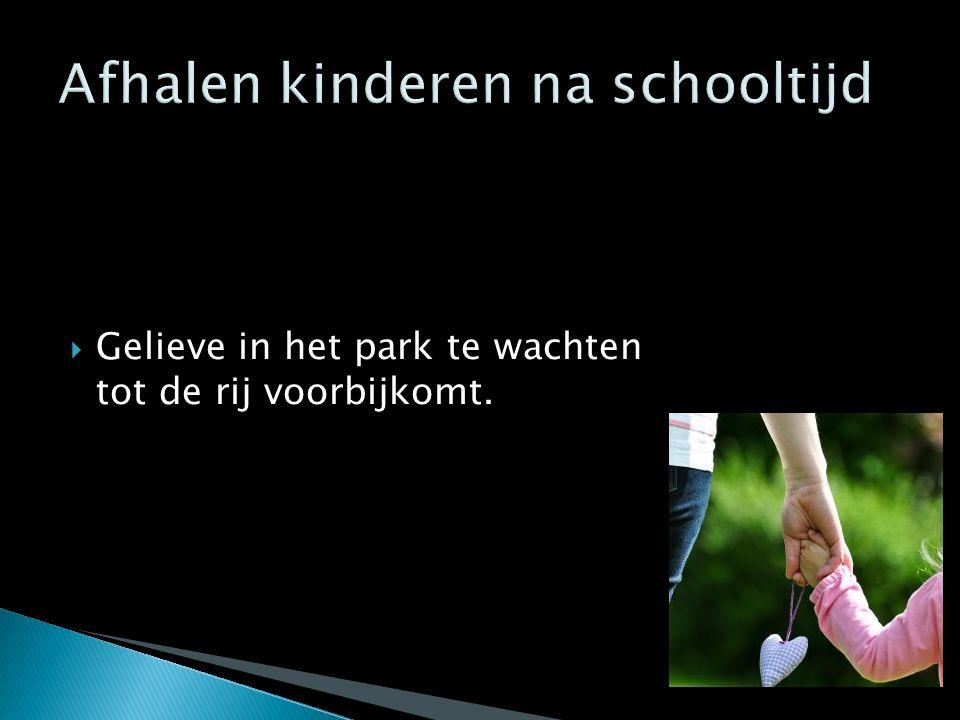 Afhalen kinderen na schooltijd