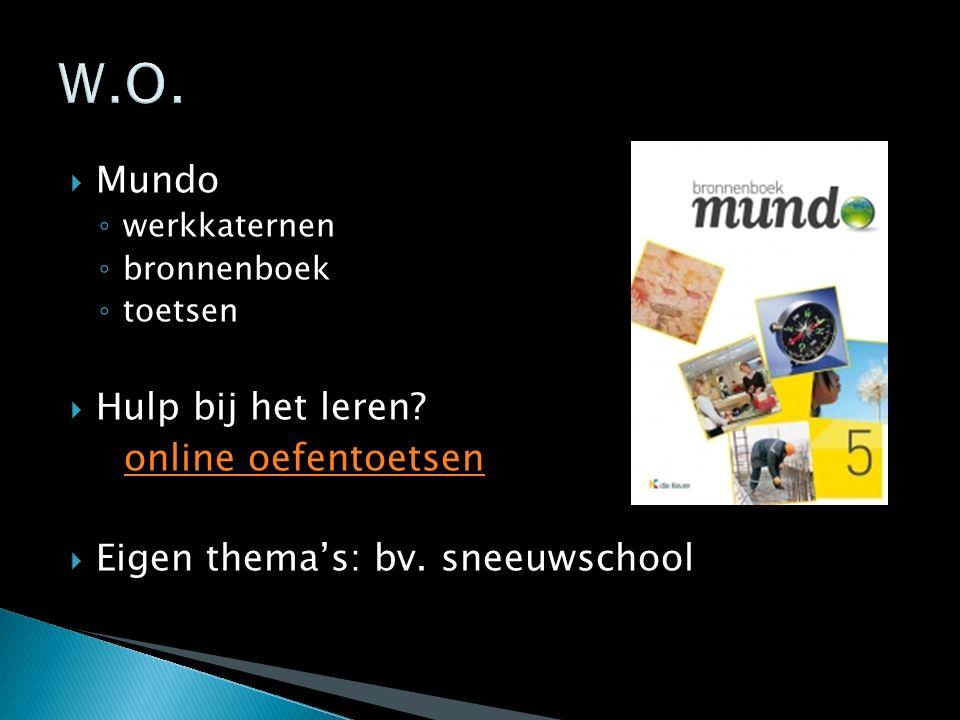 W.O. Mundo Hulp bij het leren online oefentoetsen