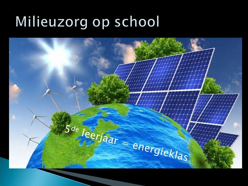 Milieuzorg op school 5de leerjaar = energieklas