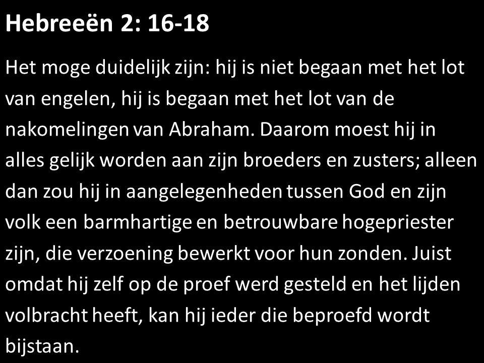 Hebreeën 2: 16-18