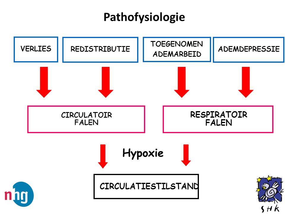 Pathofysiologie Hypoxie RESPIRATOIR FALEN CIRCULATIESTILSTAND VERLIES