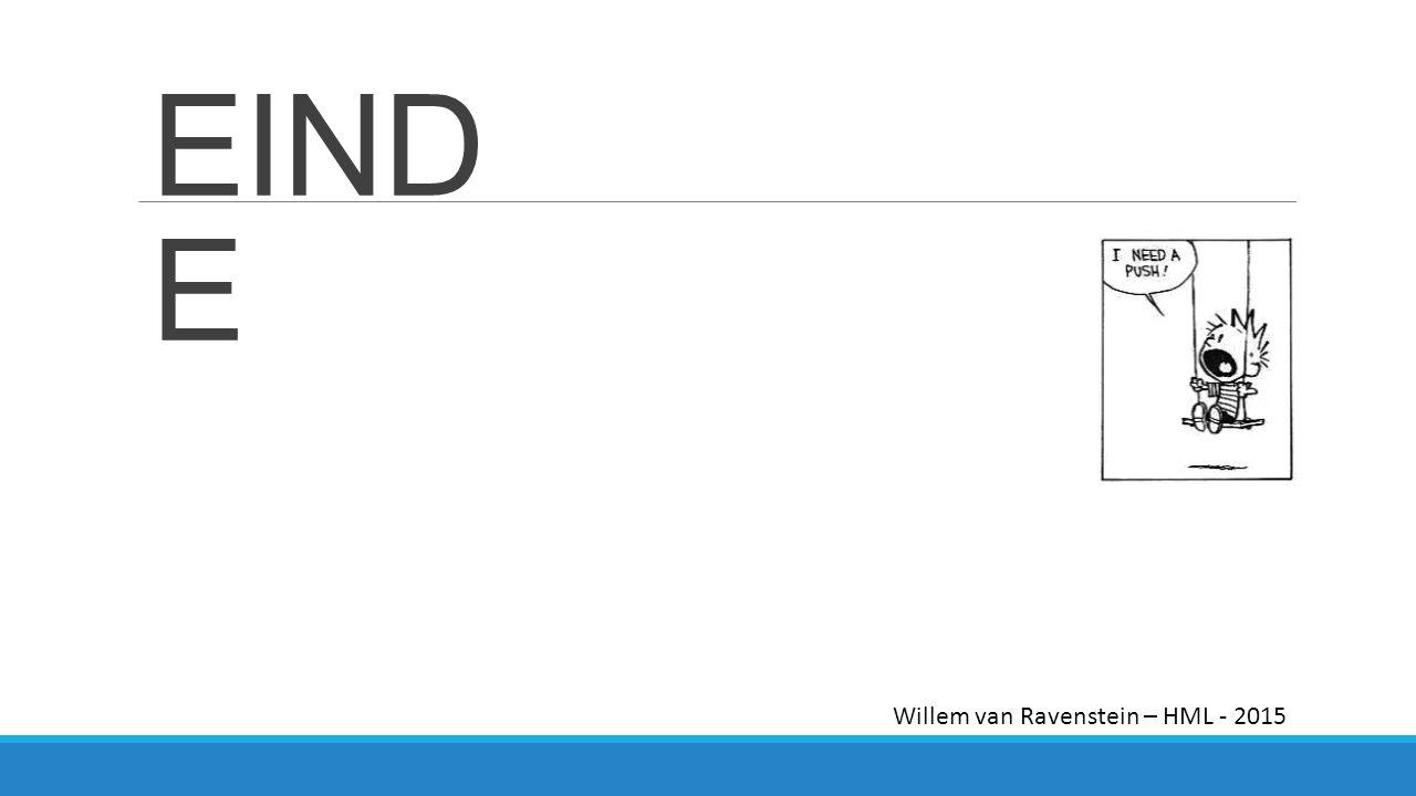 EINDE Willem van Ravenstein – HML - 2015