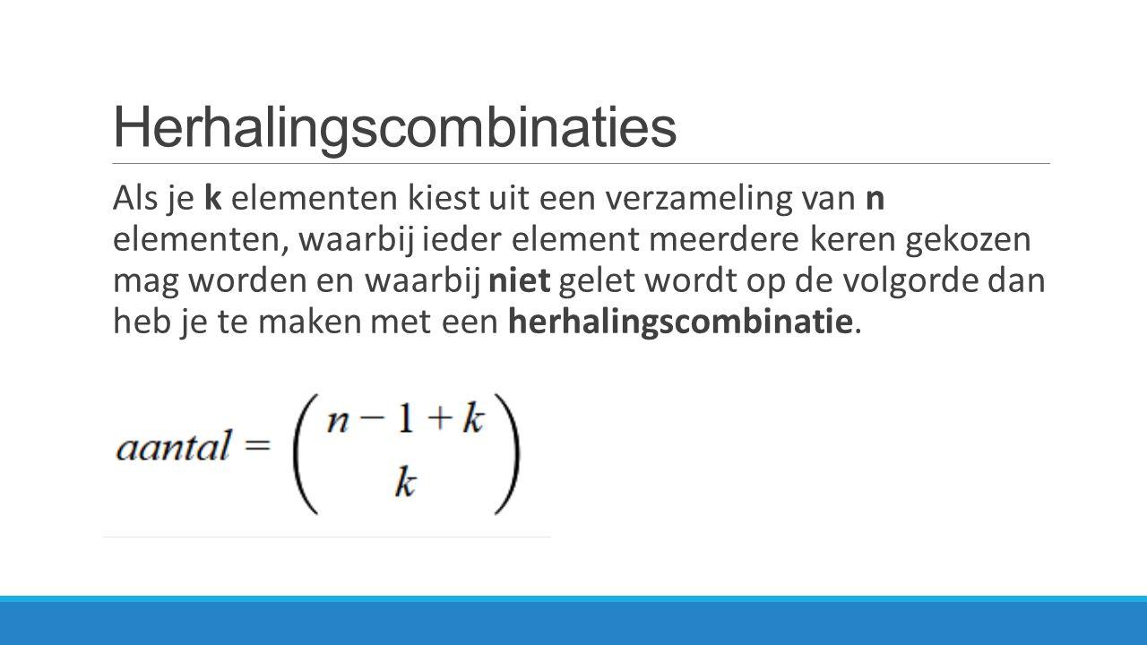 Herhalingscombinaties