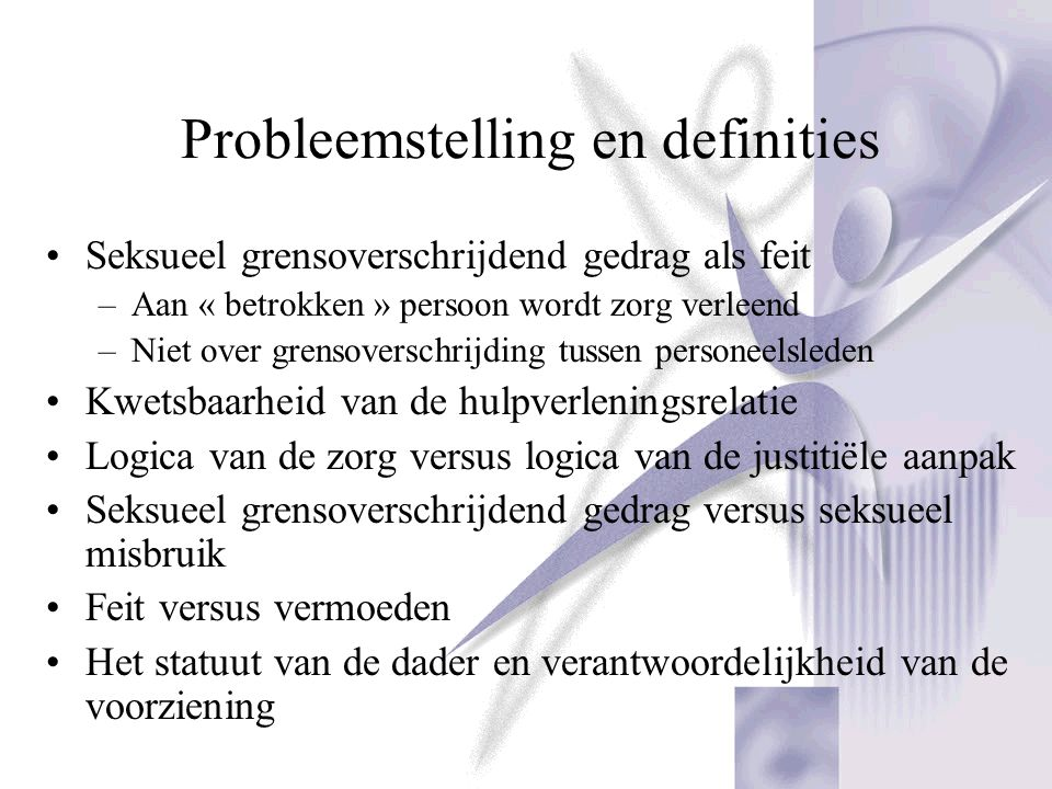Probleemstelling en definities