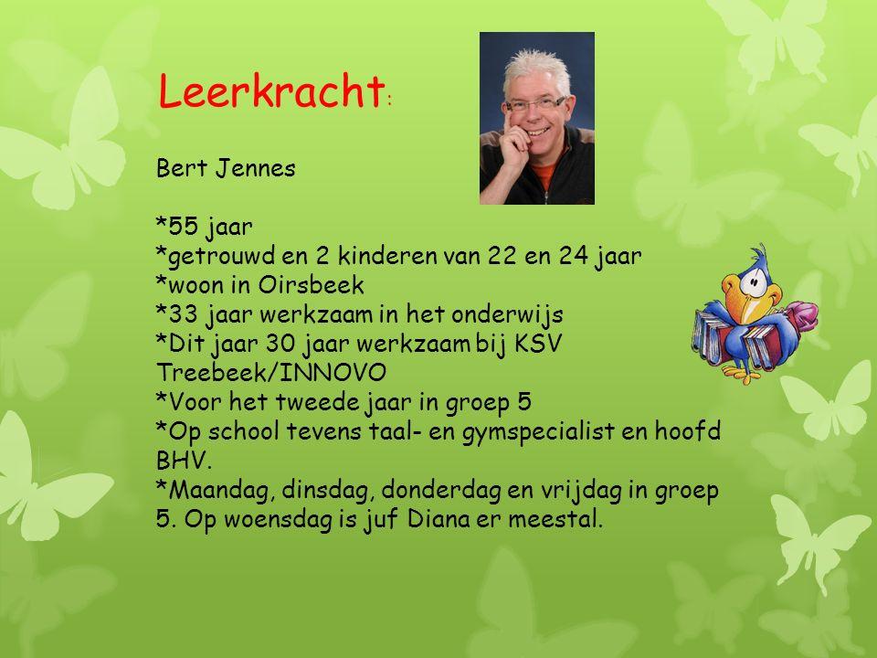 Leerkracht: Bert Jennes *55 jaar