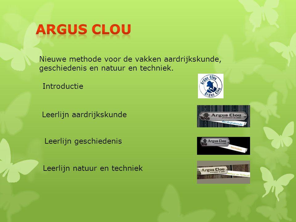 Argus Clou Nieuwe methode voor de vakken aardrijkskunde, geschiedenis en natuur en techniek. Introductie.