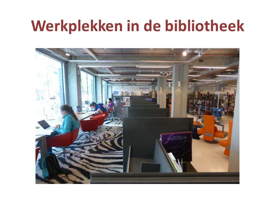 Werkplekken in de bibliotheek
