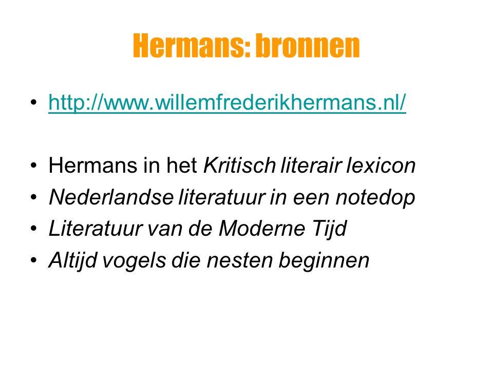 Hermans: bronnen http://www.willemfrederikhermans.nl/