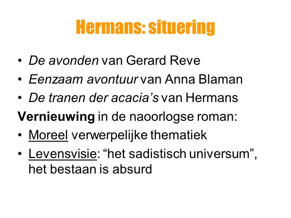 Hermans: situering De avonden van Gerard Reve