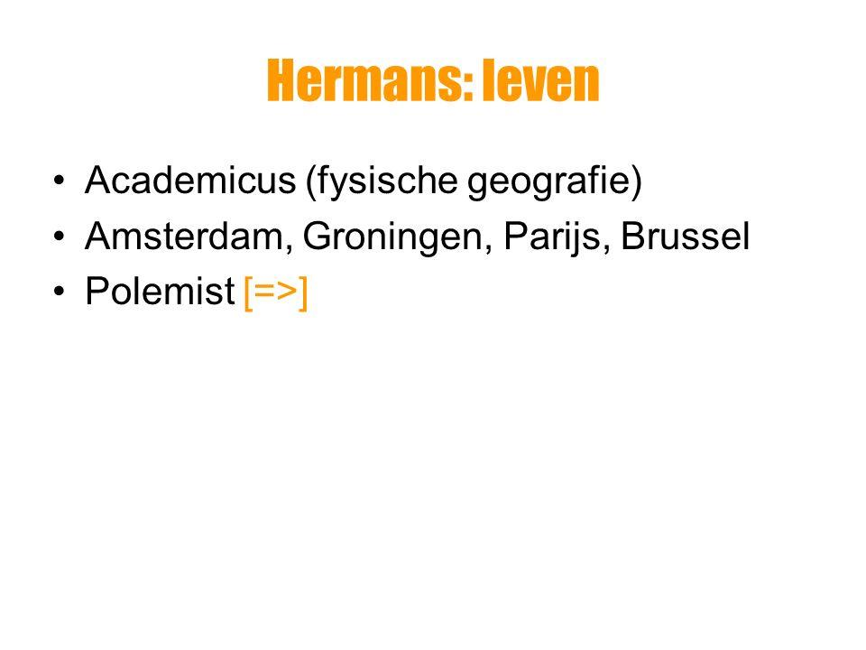 Hermans: leven Academicus (fysische geografie)