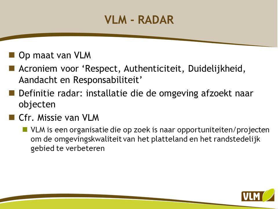 VLM - RADAR Op maat van VLM