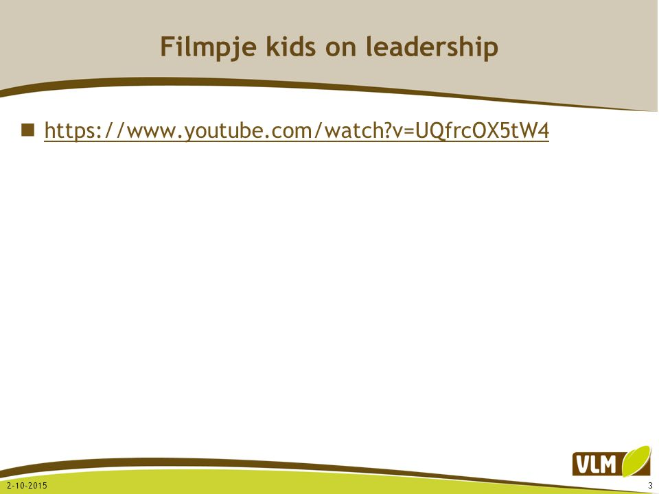 Filmpje kids on leadership