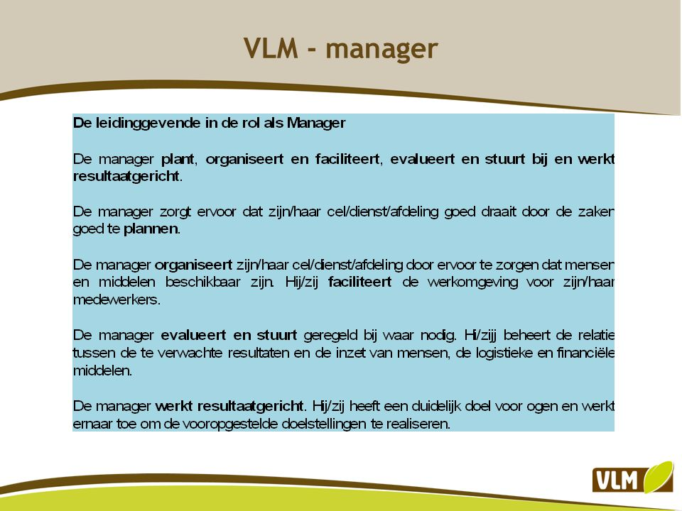 VLM - manager