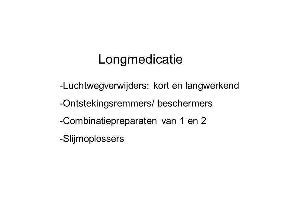 Longmedicatie -Luchtwegverwijders: kort en langwerkend