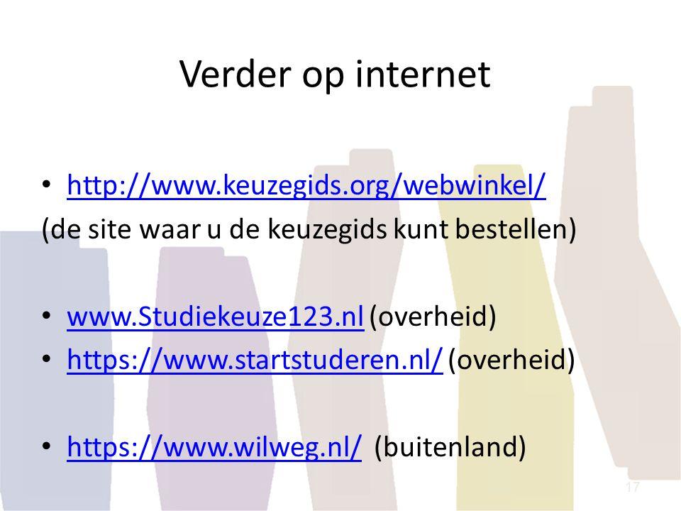 Verder op internet http://www.keuzegids.org/webwinkel/