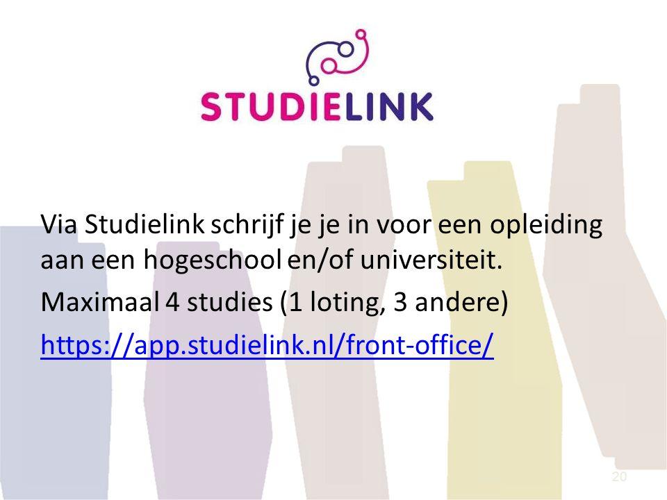 Via Studielink schrijf je je in voor een opleiding aan een hogeschool en/of universiteit.