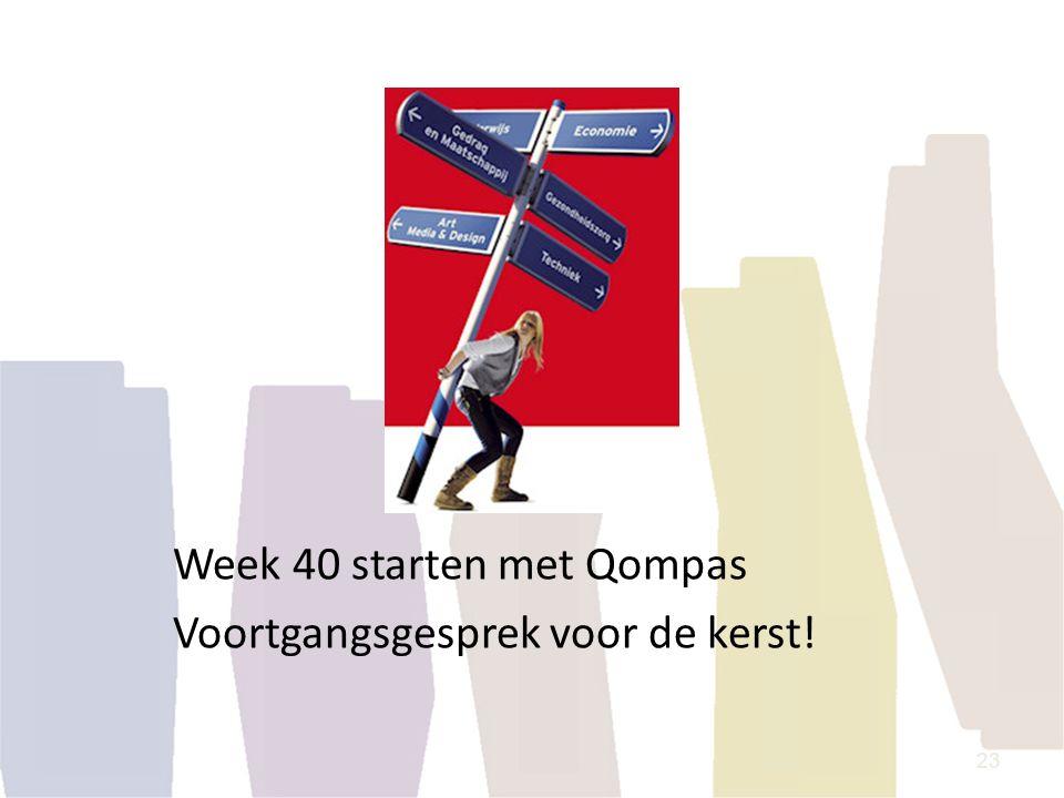 Week 40 starten met Qompas Voortgangsgesprek voor de kerst!