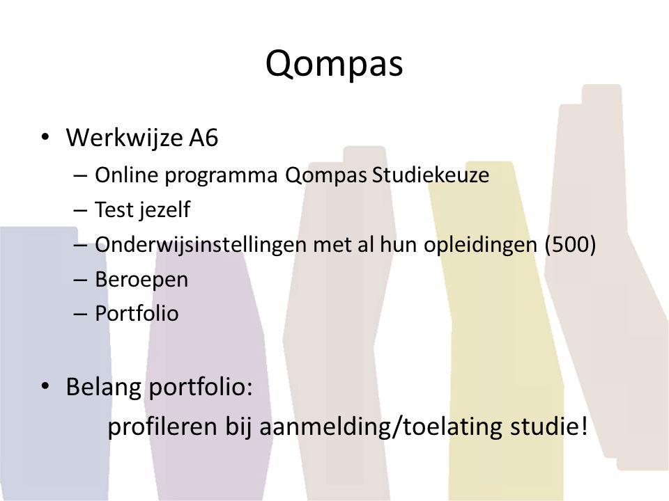 Qompas Werkwijze A6 Belang portfolio:
