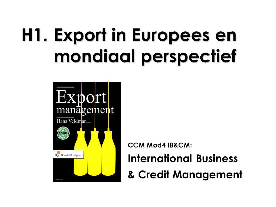 H1. Export in Europees en mondiaal perspectief
