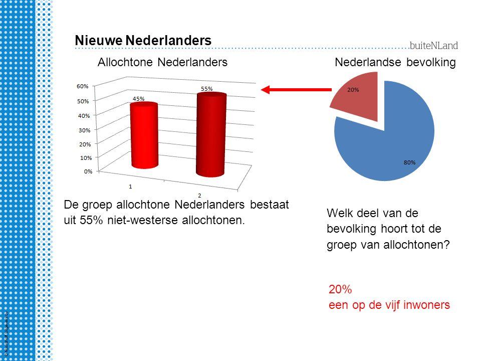 Nieuwe Nederlanders Allochtone Nederlanders Nederlandse bevolking