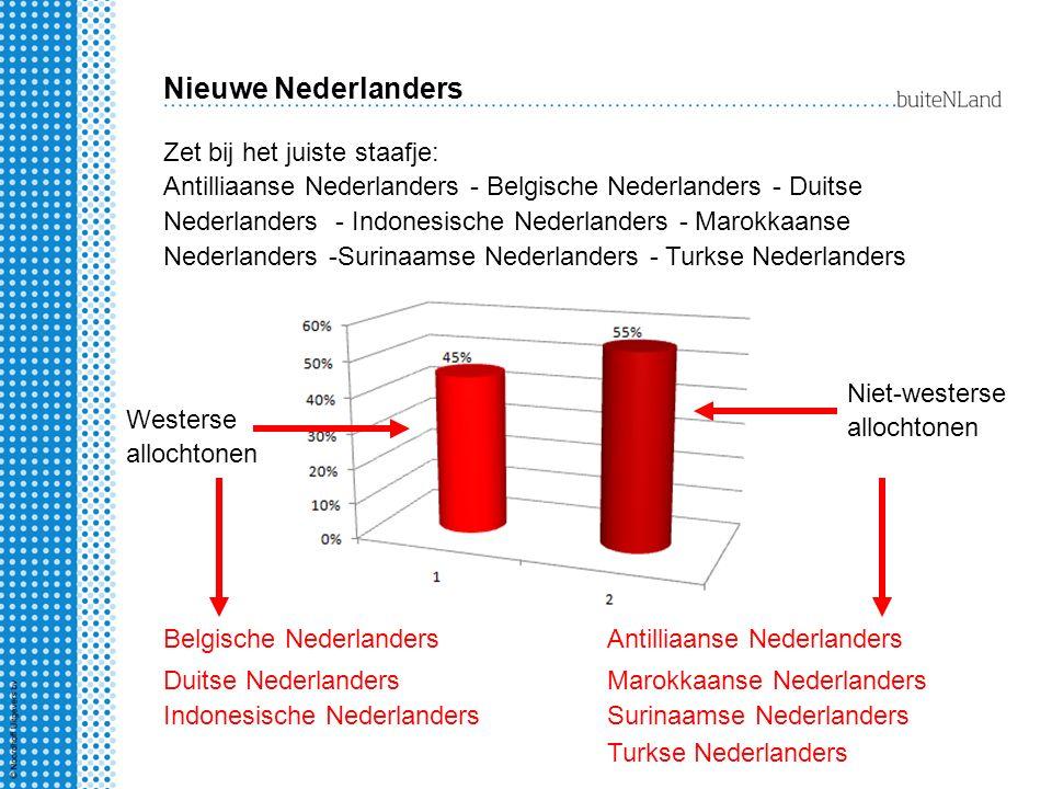 Nieuwe Nederlanders Zet bij het juiste staafje: