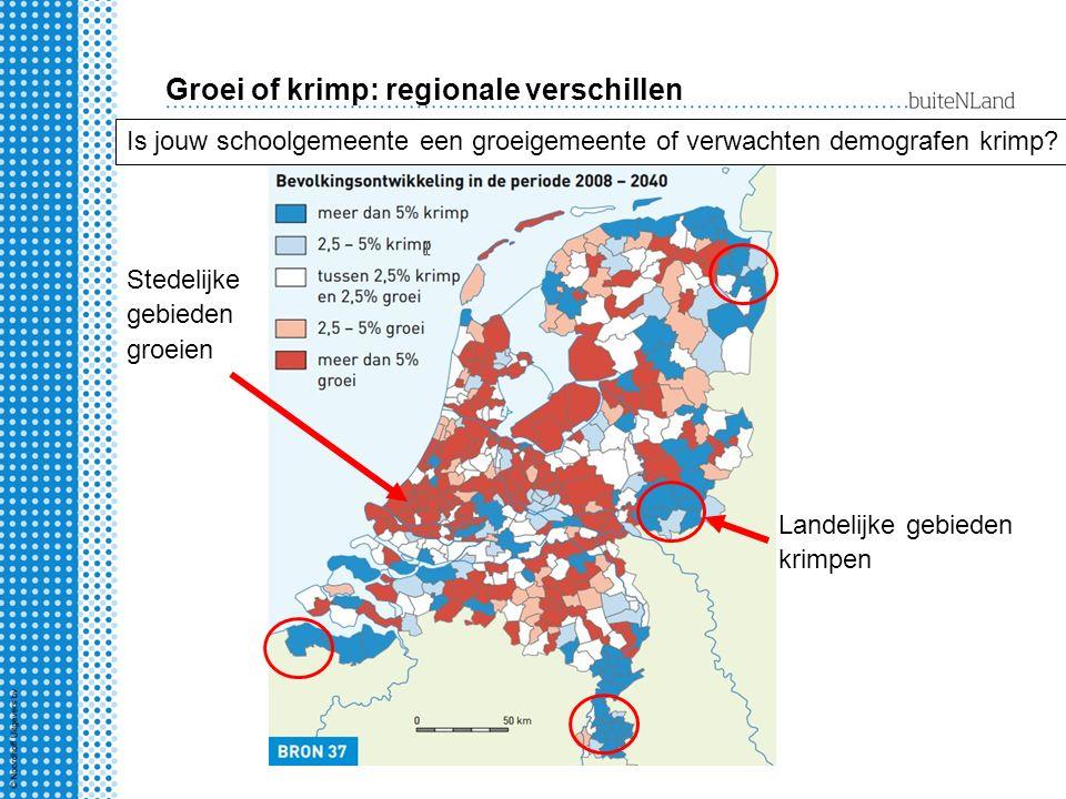 Groei of krimp: regionale verschillen