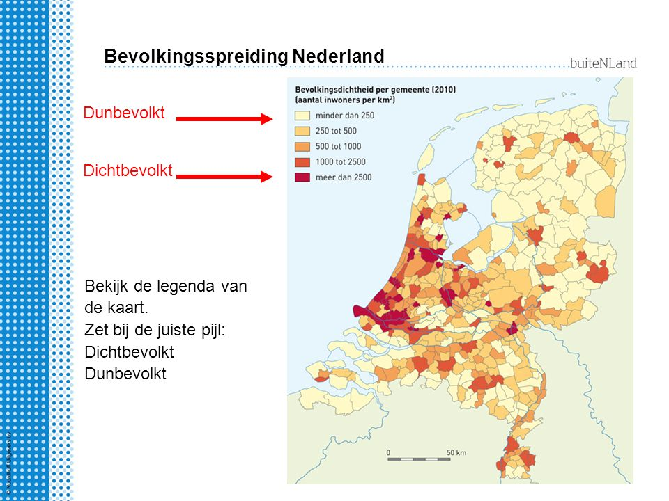 Bevolkingsspreiding Nederland