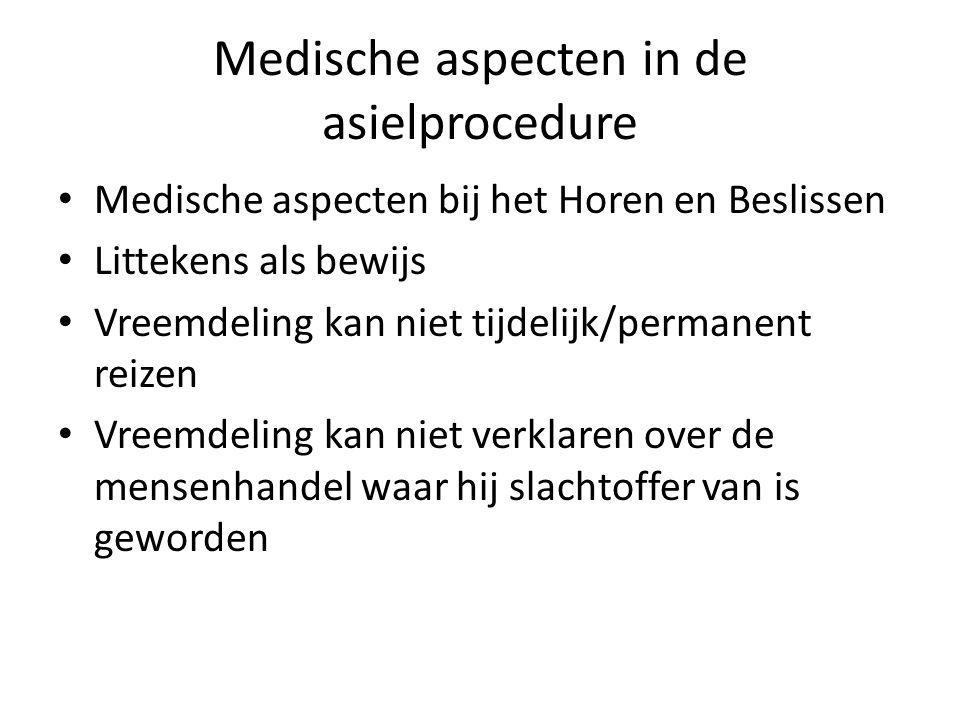 Medische aspecten in de asielprocedure