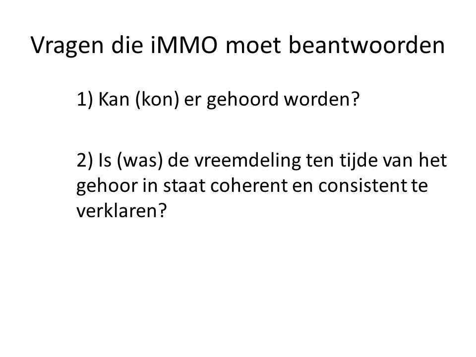 Vragen die iMMO moet beantwoorden