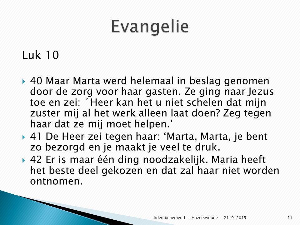 Evangelie Luk 10.