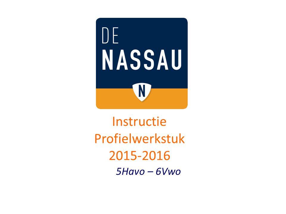 Instructie Profielwerkstuk 2015-2016