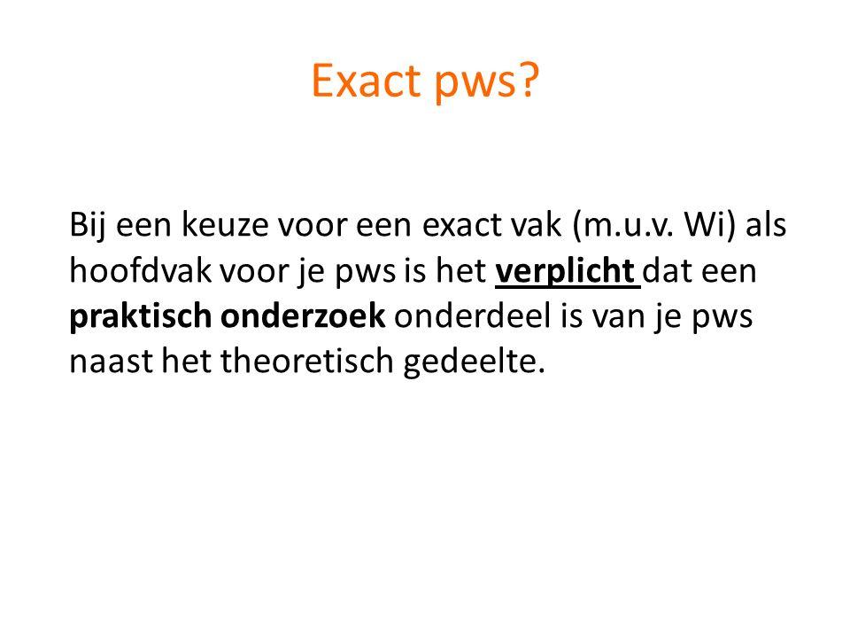 Exact pws