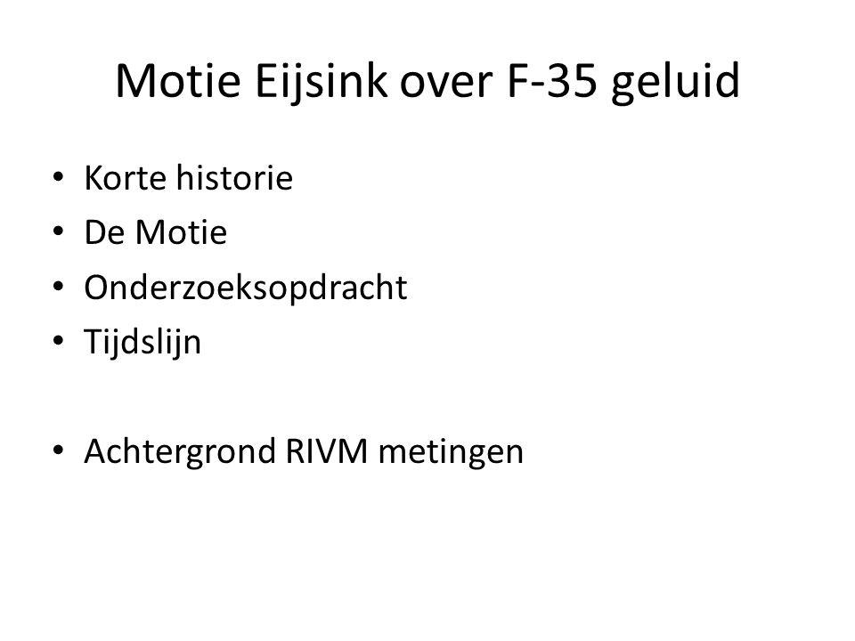 Motie Eijsink over F-35 geluid