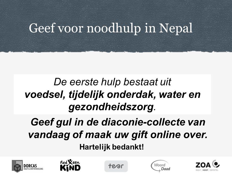 Geef voor noodhulp in Nepal