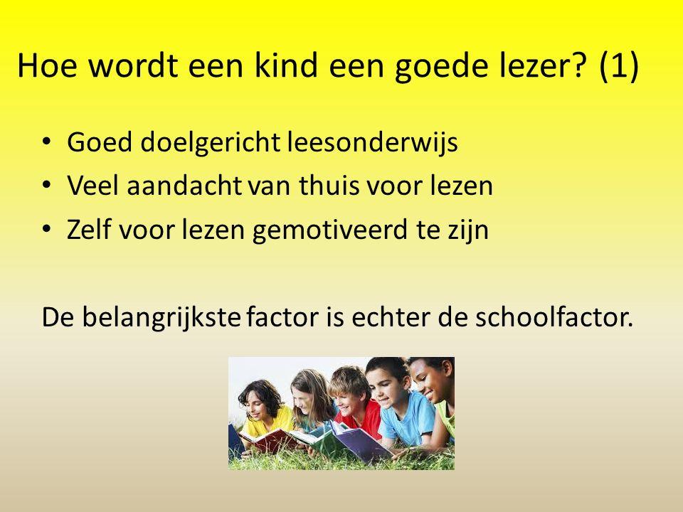 Hoe wordt een kind een goede lezer (1)
