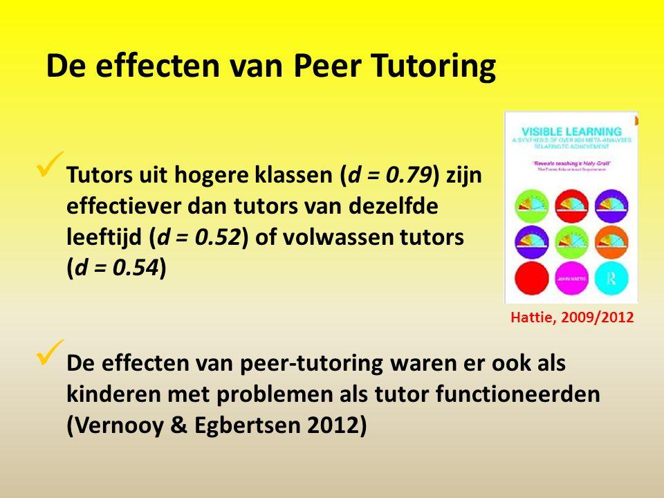 De effecten van Peer Tutoring